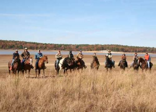 photo: Point Pleasant Trail Riders equestrian group at Enid Lake