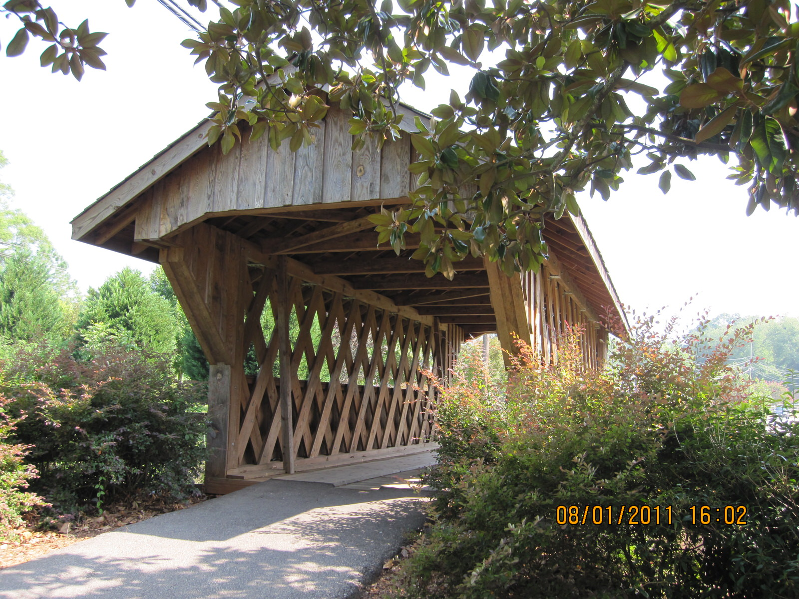 photo: Covered bridge. Photo by Rob Grant.