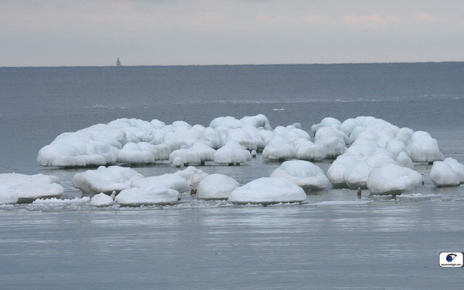 photo: Ice on Lake Michigan. Photo by Eye on Michigan.