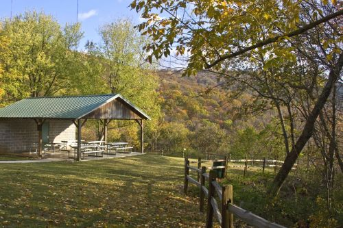 photo: Monte Sano Nature Preserve Environmental Education Picnic Pavilion in Fall