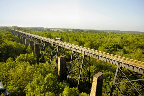 photo: View of High Bridge, High Bridge Trail State Park