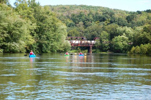 photo: Kiski-Conemaugh water trail users will pass by several bridge piers, rail road and old automobile bridges.