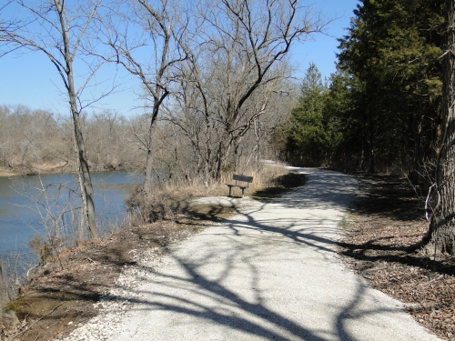 photo: The trail winds along the Pomme de Terre River.