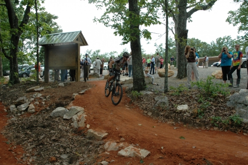 photo: Biker Leaving the Trailhead
