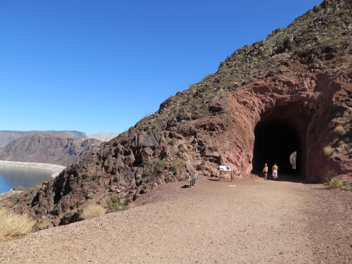 photo: Historic Railroad Trail, tunnel, and Lake Mead