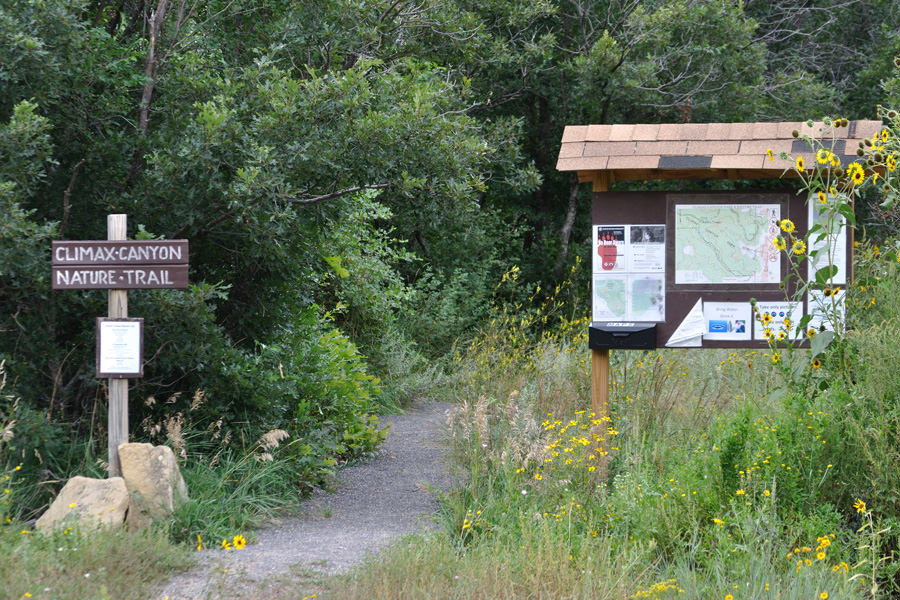photo: Climax Canyon Nature Trail Trail head