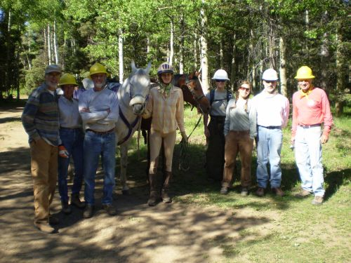 photo: 2010 New Mexico Volunteers for the Outdoors and Carson National Forest collaborative trail maintenance project.