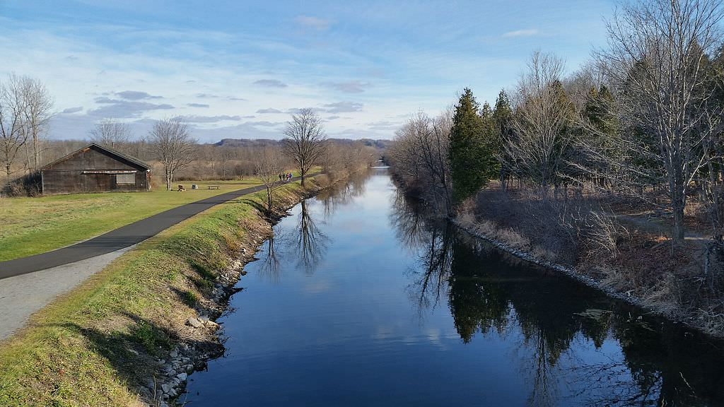 photo: Old Erie Canal State Historic Park, at Cedar Bay Park, DeWitt, NY. Photo by DASonnenfeld.